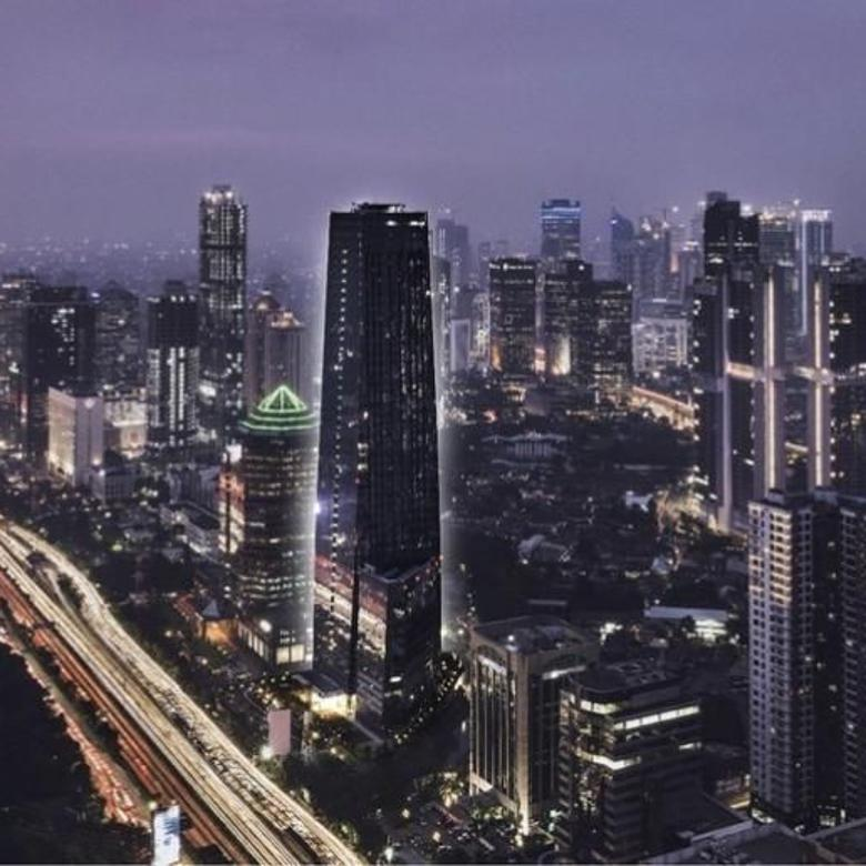 The tower, the large and luxury office tower at jakarta