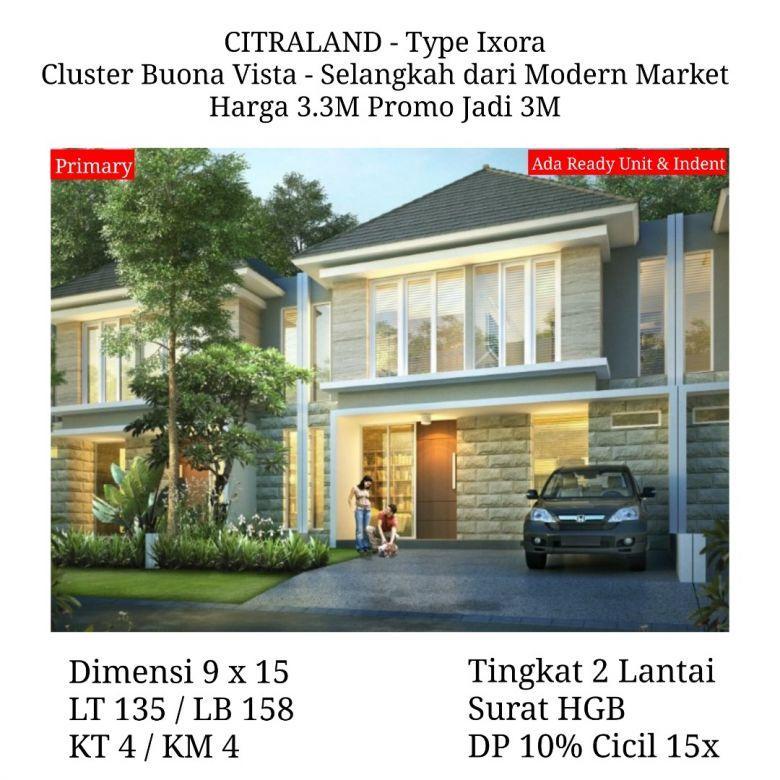Rumah Citraland Terdepan Surabaya Buona Vista dkt Pasar Modern