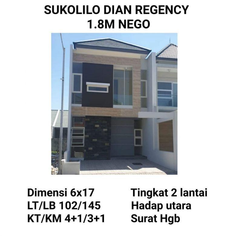 Sukolilo Dian Regency Surabaya Timur Minimalis Baru Modern (AT