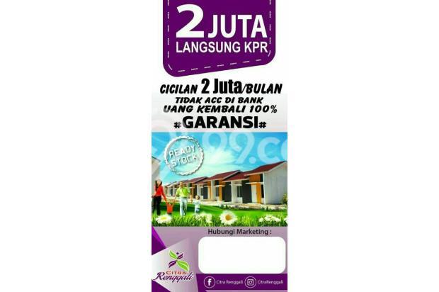 Rumah Berkualitas Harga Terjangkau,, Cukup bayar Rp 2jt Langsung KPR 17793507