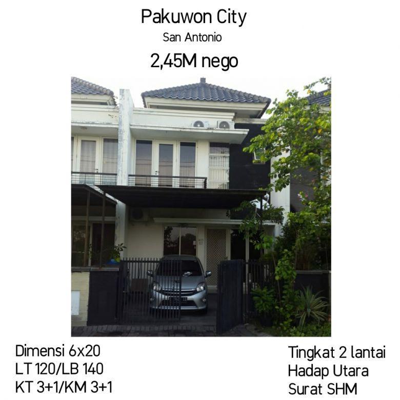 Rumah Pakuwon City Laguna San Antonio Surabaya Nego