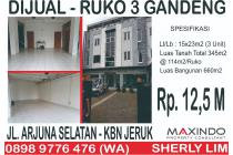Dijual 3 Unit Ruko Besar Strategis di Arjuna Selatan Jakarta