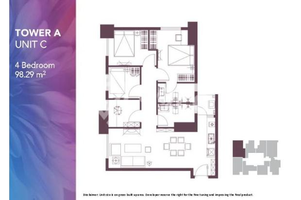Dijual Apartemen Baru 2BR Strategis di Meikarta Tower 1B Bekasi 13127173