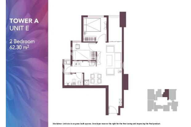 Dijual Apartemen Baru 2BR Strategis di Meikarta Tower 1B Bekasi 13127179