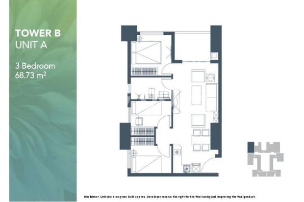 Dijual Apartemen Baru 2BR Strategis di Meikarta Tower 1B Bekasi 13127180