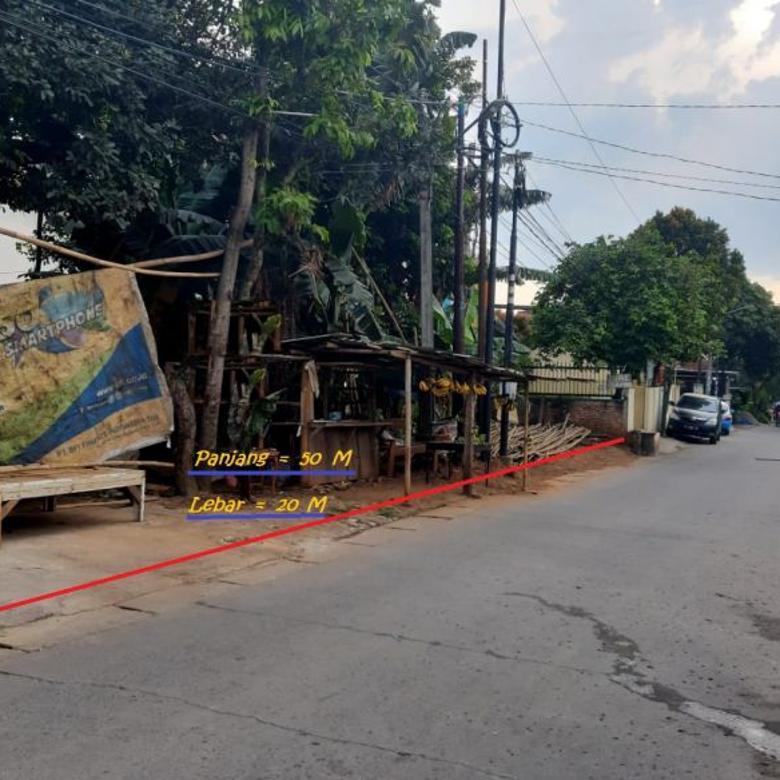 Tanah Murah di BSD L=20 P=50 SHM Akses jalan 2 mobil @ 5jt/m2