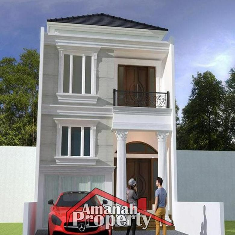 Rumah Indent 4+1 Kamar Desain Modern Classic Jagakarsa Jakarta Selatan