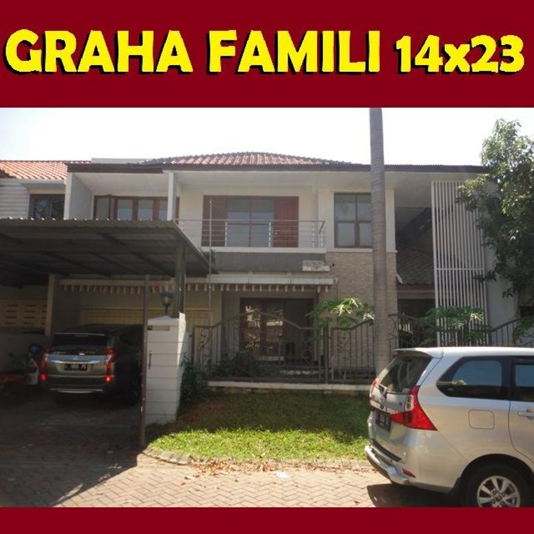 Jual Rumah GRAHA FAMILI Sby Barat 14x23 Dkt Citraland Pakuwon