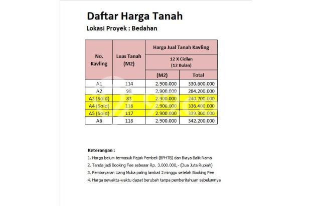 Investasi Tanah di Bedahan , 12 X Bayar Bebas Bunga 16225706