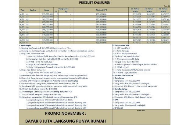 Jual Rumah KPR TANPA DP, Telah Terbukti di Belasan Proyek 14439268