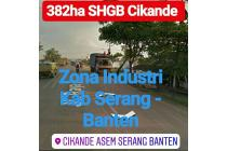 Tanah Cikande 382Ha Zona Industri Kab Serang Prop Banten