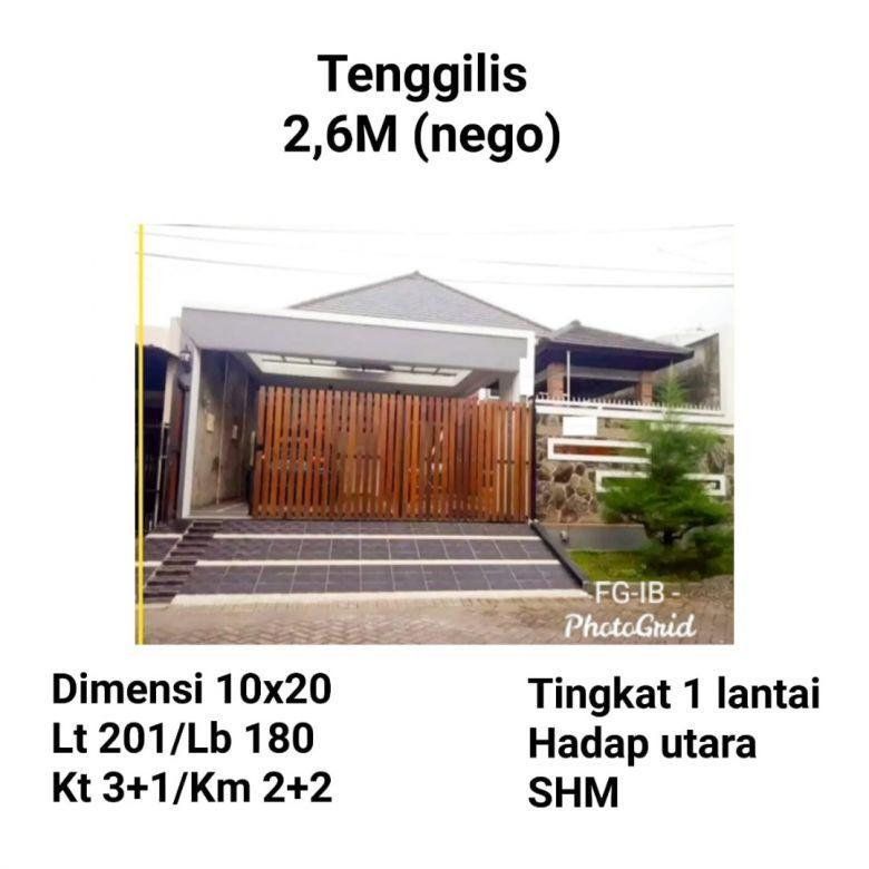 Rumah Siap Huni Tenggilis Mejoyo Surabaya Selatan Dkt Rungkut