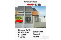 dijual rumah siap huni wonorejo selatan Surabaya timur merr