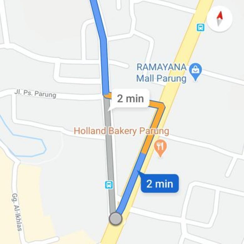 Tanah Kosong 500 meter dari simpang Y Pasar/Alfa Parung ,Bogor