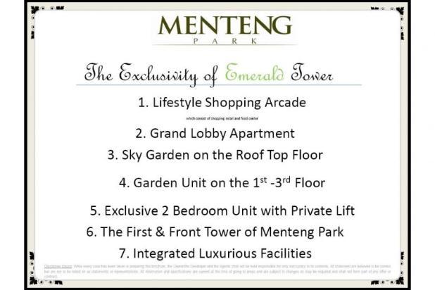 Dijual Segera Apartemen Menteng Park Tower Sapphire Studio Furnished 6323953