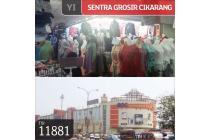 Kios Gandeng Sentra Grosir Cikarang, Lt 1, 2x2, SHM