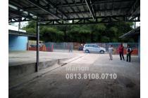 Tanah komersial (450 m2) di jalan Raya Muncul Tangerang Selatan.