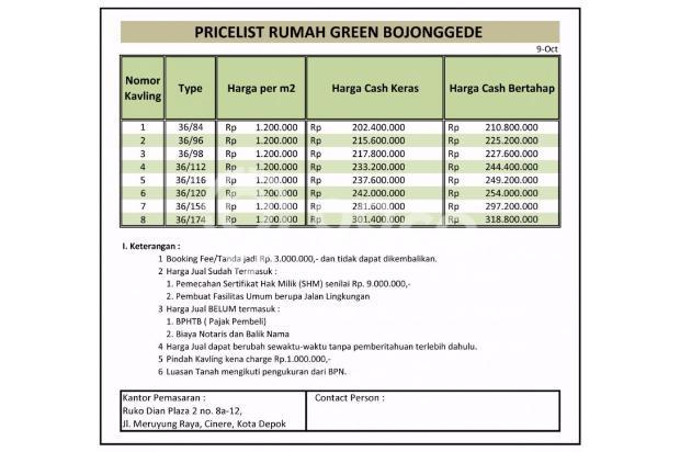 Lunas Tanah Tunai Potongan 100 Jt di Perumahan Bojong Gede 14419276
