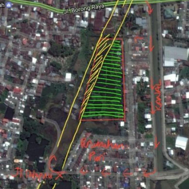 Tanah strategis jalan borong raya dan bisa lewat toddopuli 10,