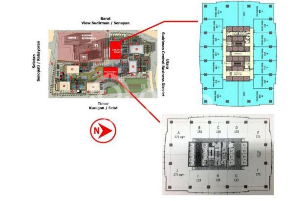 Dijual Office District 8 Tower Prosperity (128m2) Hadap Timur Senopati 15144471