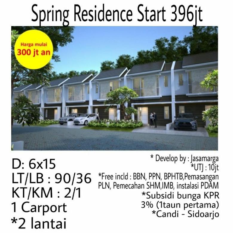 rumah murah spring residence candi sidoarjo dp cicil ringan