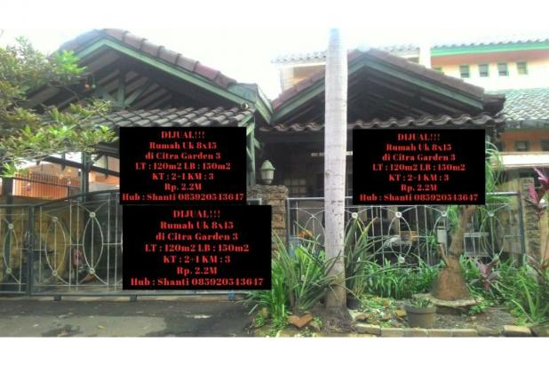 Rumah Uk 8x15 di Citra garden 3 5454823