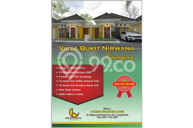 vlla bukit nirwana gamping type 45/126 harga 340juta 17995398