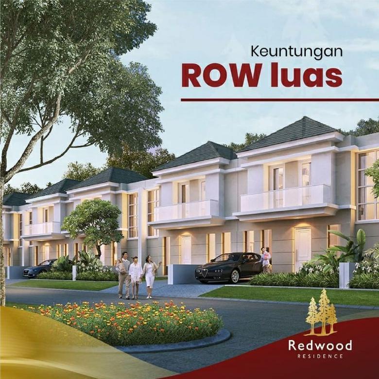 rumah red wood 800 jutaan bisa KPR 2 lantai mewah harga murah