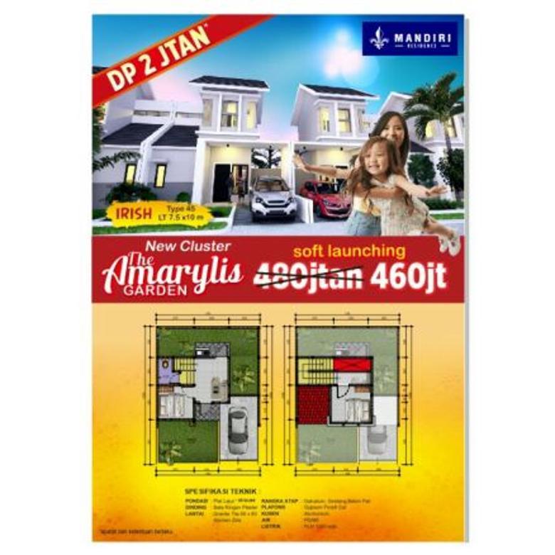 Dijual Rumah DP 2 Jt an 2 Lantai di Sidoarjo