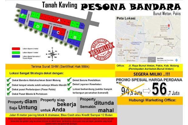 tanah murah dekat bandara dan tempat wisata 13870851