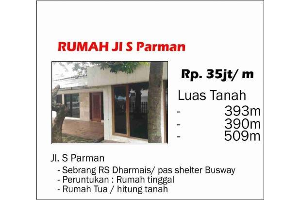 Rumah Tua Daerah S Parman, Lokasi Bagus Dan Hitung Tanah Saja 17794821