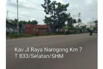 Jual : Tanah Jl Raya Narogong Km 7 Bekasi