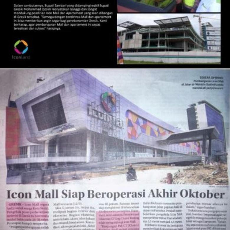 ICON MALL - Launching New Block Rumah ICON GRESIK Grand Opening HANYA 1M an