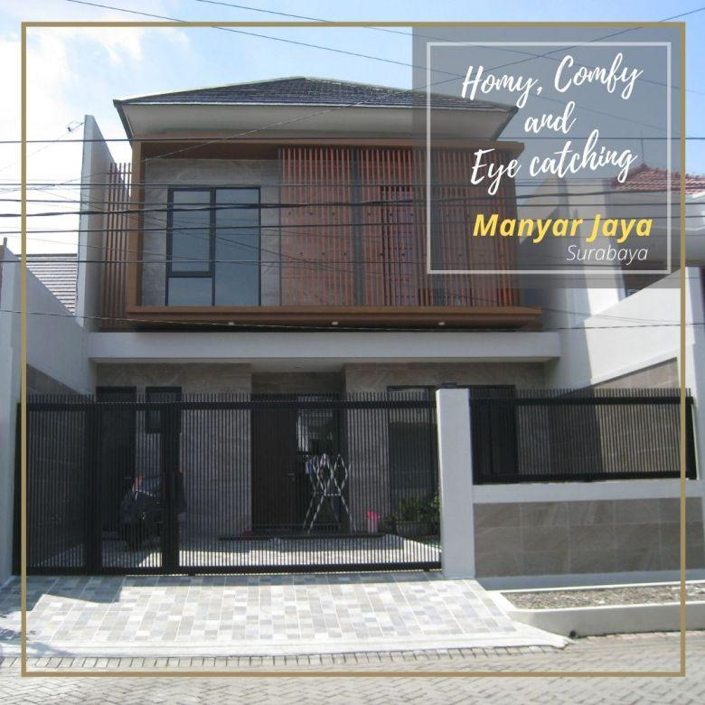 Rumah Manyar Jaya, Sukolilo, Surabaya - Baru dan Siap Huni.