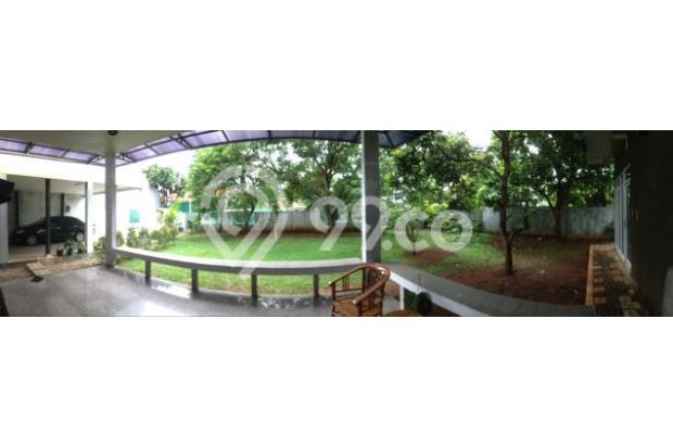Taman luas dengan rumput segar dan pohon yang rindang tapi tdk terletak dkt dgn rumah sehingga aman 4914687