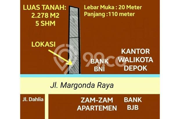 Tanah di Jalan Margonda Raya, Depok - Dekat Kantor Walikota 5356035