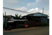 Tanah darat pinggir jalan utama Cimuning Setu Bekasi