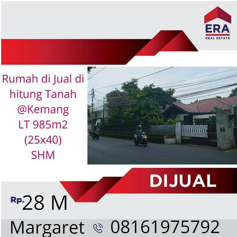 Rumah di Pusat Keramaian, dihitung Tanah, Kemang, Jakarta Selatan