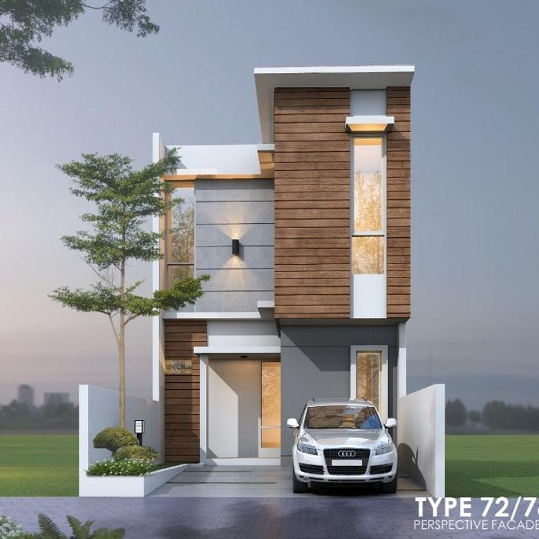 Rumah 2 Lantai Mewah T72/78 Cluster Andara Pondok Labu