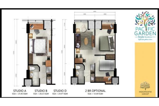 Rp609jt Apartemen Dijual