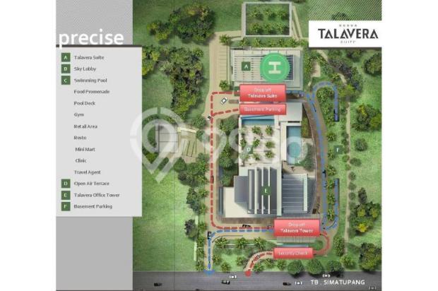 Disewakan ruang kantor, luas mulai 150 s/d 800 Sqm, di Gdg TALAVERA TOWER 6373637