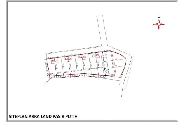 Tanah Kavling di Cluster, Jalan Lebar 5 Meter 16509752