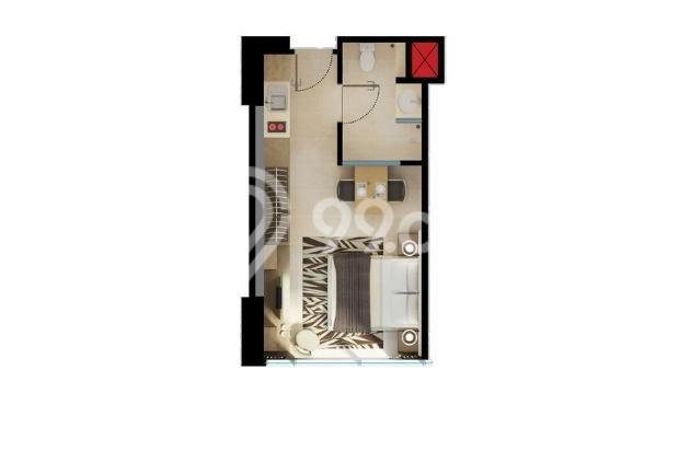 APARTEMEN DIJUAL: U Residence Tower 1 - Studio Unfurnished Dekat ke SOGO 15131982