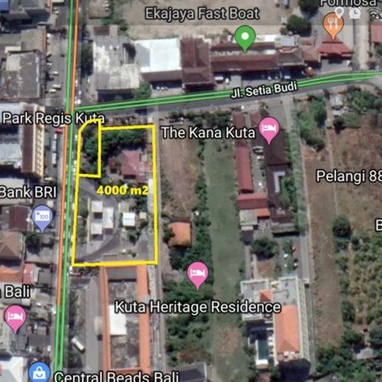 Tanah di kuta  ( lahan kosong dan Gas Station ) 4000 m2