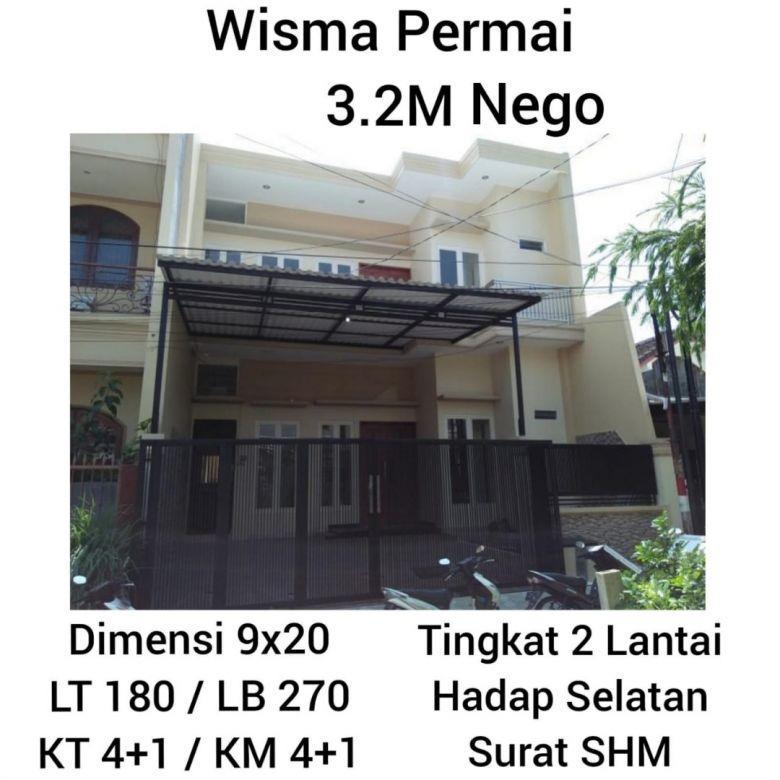 Rumah Wisma Permai Surabaya Minimalis Nego