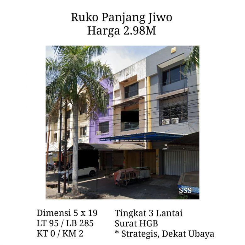 Ruko Raya Panjang Jiwo Surabaya dkt Ubaya Merr Tenggilis Prape