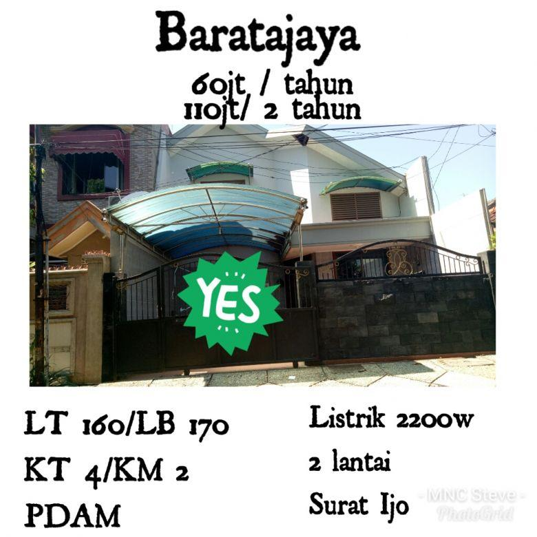 Sewa Rumah Baratajaya Bratang Ngagel Surabaya Siap Huni