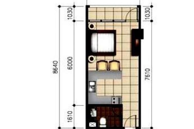 Rp75jt/thn Apartemen Disewa