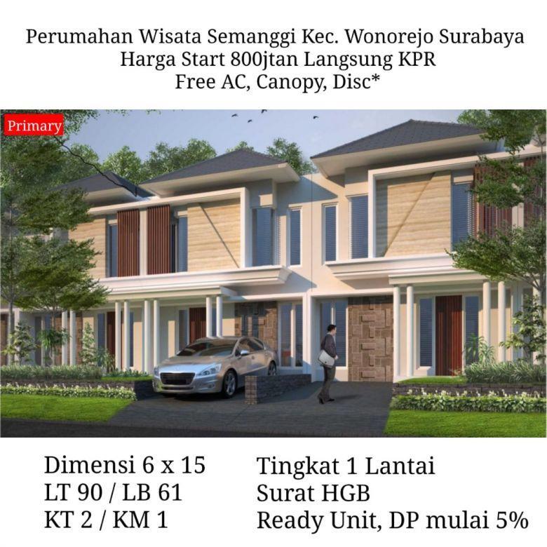 Rumah baru Wisata Semanggi Wonorejo Rungkut Surabaya murah