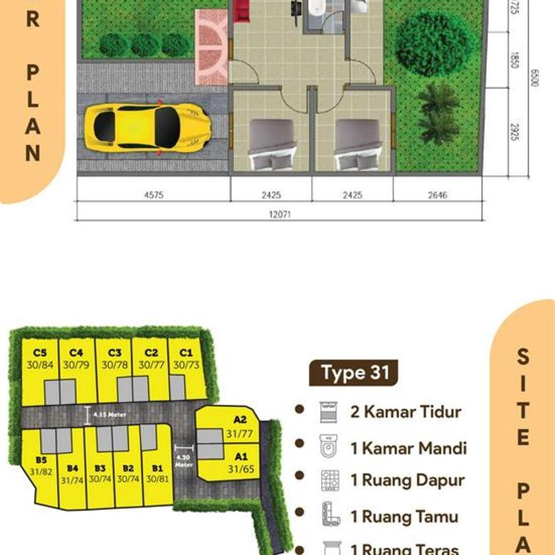 Hunian Islami Harga Ekonomis Cicilan Flat SHM & IMB Ada